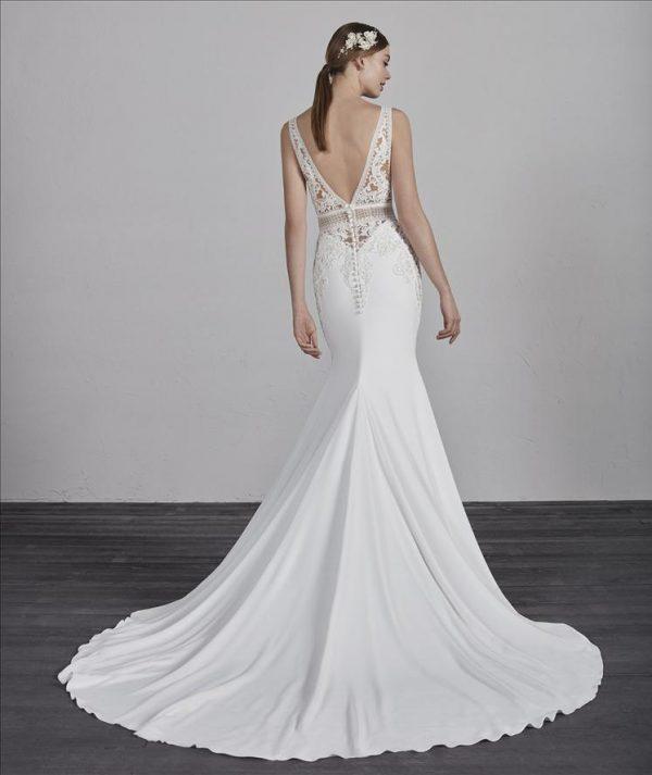 Model wearing Emily wedding gown