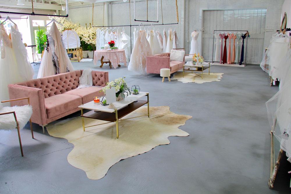 inside of ever after bridal shop