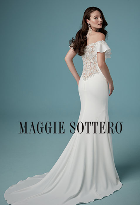 Bride wearing maggie sottero wedding dress