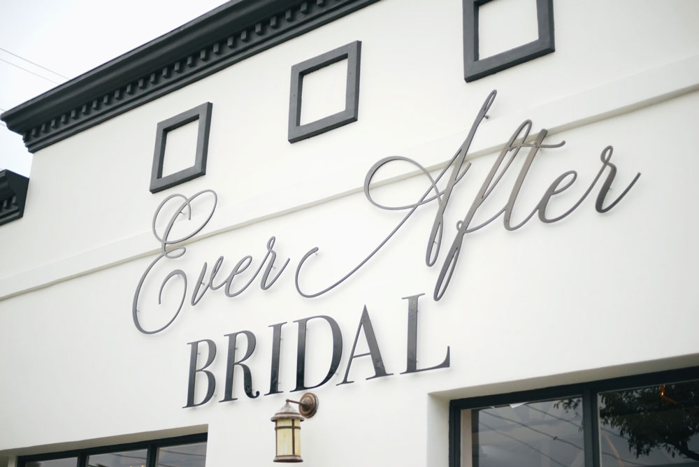ever after bridal shop store front