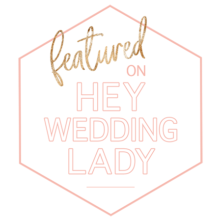 Featured on Hey Wedding lady Logo